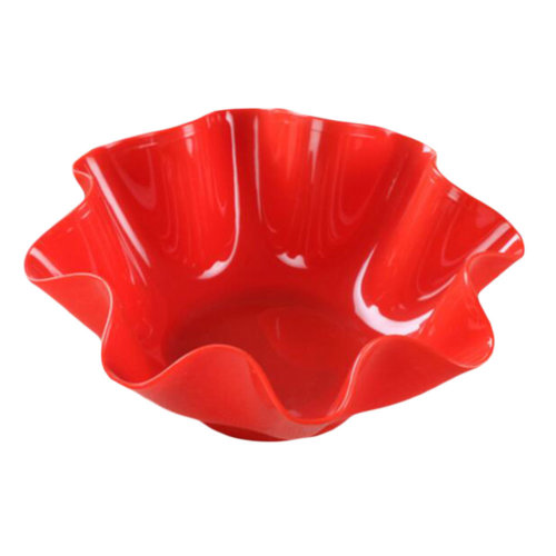 High Quality Thicken Fruit Vegetable Container Dessert Holder-Red