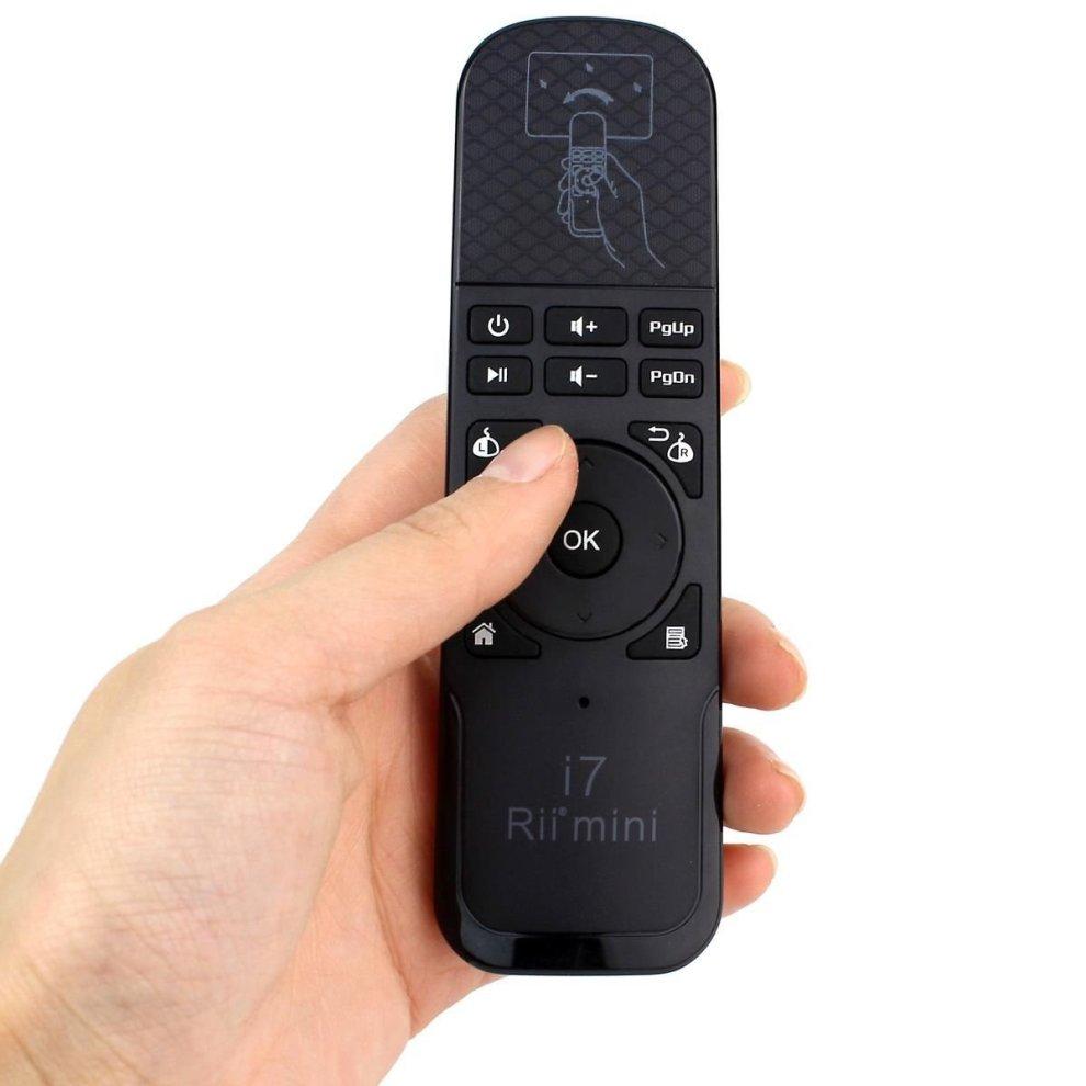 Rii Mini i7 Wireless - Media remote with Gyro Mouse for Smart TV, Mini PC  (Android - Raspberry Pi), PC (Windows - Mac - Linux), Console (PS4 - Xbox