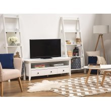 White RTV unit with 3 drawers BERKELEY