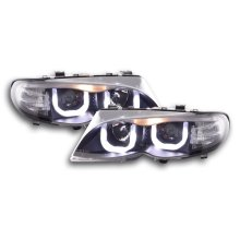 Angel Eye Headlight  BMW serie 3 E46 saloon/Touring Year 02-05 black RHD