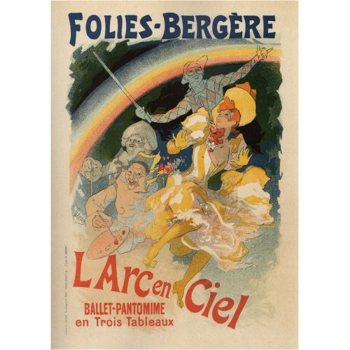 Advertising poster - Folies Bergére - High definition printing on stainless steel plate