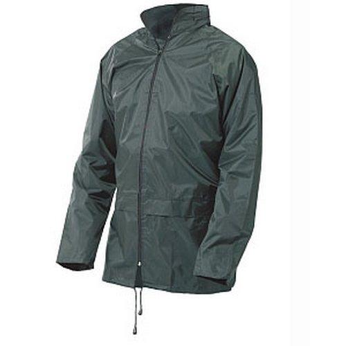 Click NBDJOL Nylon Waterproof Jacket With Hood Olive Green Large