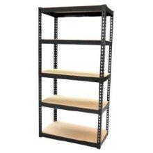 1.5m 5 Tier Boltless Shelving Unit -  5 tier shelving storage unit heavy duty boltless garage metal shelves home new 15m