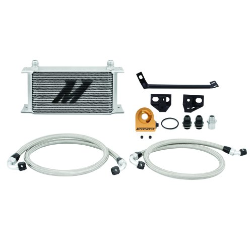 Mishimoto Ford Mustang EcoBoost Oil Cooler Kit, 2015+, Silver Thermostatic