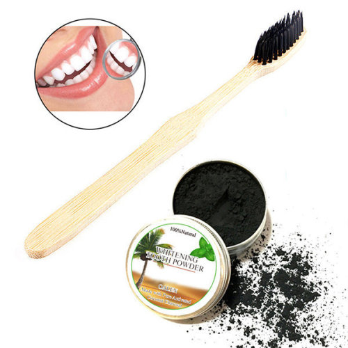 Teeth Whitening Powder With Toothbrush