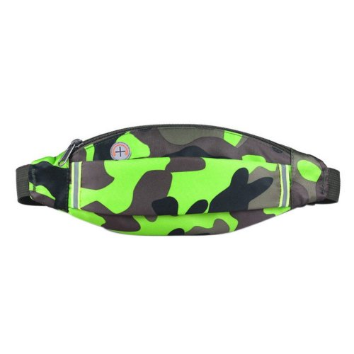 Outdoor Sports And Leisure Large Capacity Fashion Waist Bags, Camouflage Green