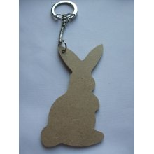 MDF Wooden Keyring For Decoration - Rabbit Shaped