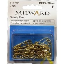 Gold Safety Pin Set -  gold safety pin set milward pinsx 30 locking mutipurpose dressmaking