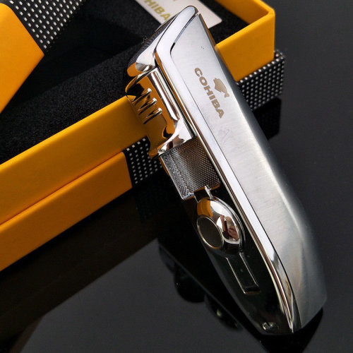 Cohiba Cigar Lighter with Punch Cutter