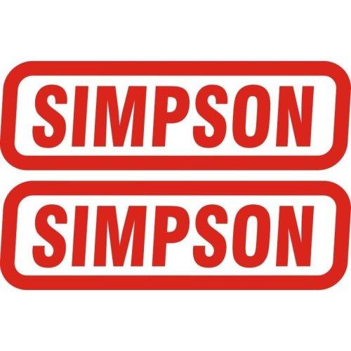 Simpson Genuine Stickers X2 Decal Set 130Mm X 40Mm Bandit Diamondback Speedway