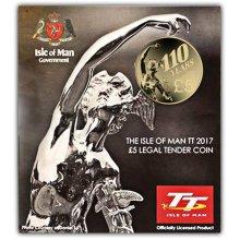 Isle of Man 2017 TT Races Senior Trophy Uncirculated Alpaca Coin in a card