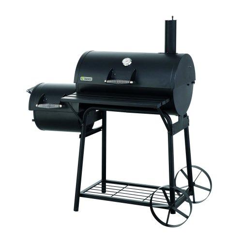 Tepro 1087 Biloxi Offset BBQ Pit Barrel Smoker - Black