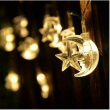 Moon and Star LED Christmas String Light Lamp