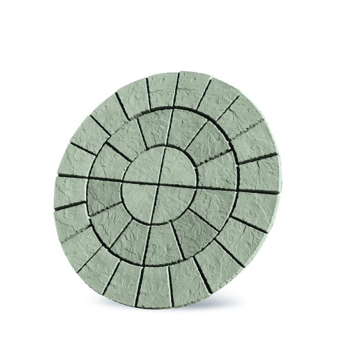 Patio Circle Kit Cathedral Paving 1.8m Weathered Moss