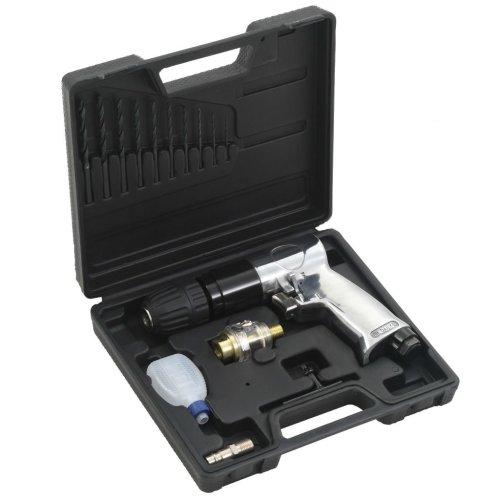 "vidaXL 15 Piece Air Drill Kit 3/8"" Pneumatic Screws Fixings Power Hand Tool"