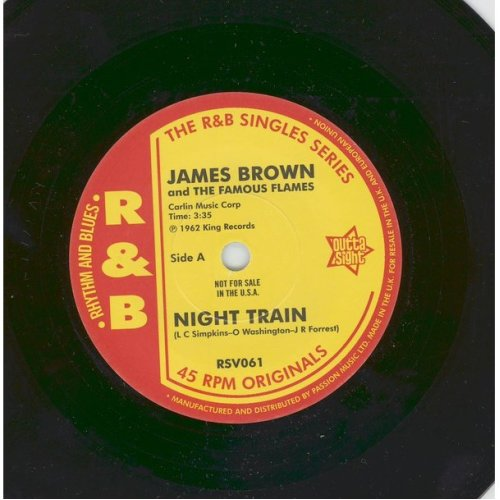 "Night Train / Think - James Brown & The Famous Flames 7"" 45"