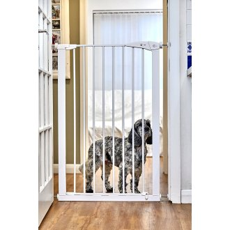 Callowesse Pet Dog Gate Extra Tall 75-82cm Pressure - White 110cm High