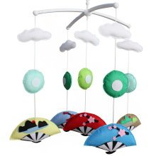 Baby Rattle Toy, Baby Gift, Infant Musical Mobile [Japanese folding fan], Cute