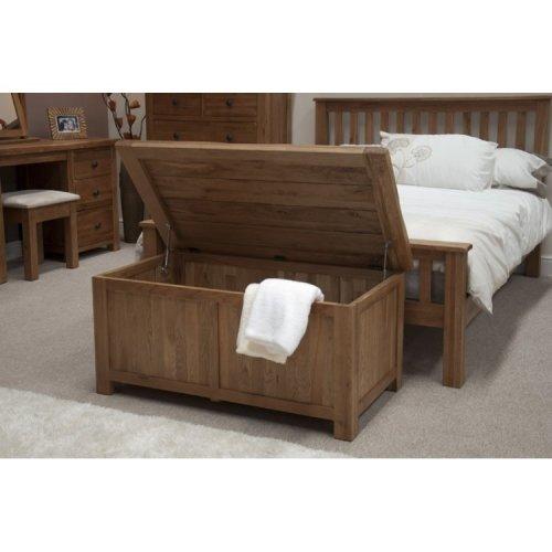 Homestyle Rustic Style Oak Furniture Blanket Box