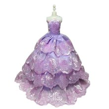 High-end Handmade Wedding Costume Luxurious Party Gown Dresses Princess Clothes for Dolls, W