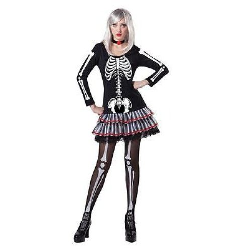 Skeleton Outfit Halloween.Skeleton Maiden Dress Skeleton Fancy Halloween Costume Ladies Maiden Womens Outfit Skeleton Maiden Costume Halloween Fancy Dress Party