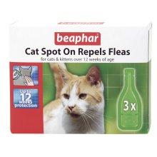 Beaphar Cat Flea Drops - 12 Week Protection (Pack of 6)