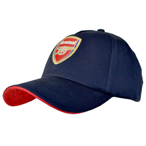 Arsenal Baseball Cap - Navy - Club Football Hat Features Crest Red Colour -  club arsenal football baseball cap hat features crest red navy colour