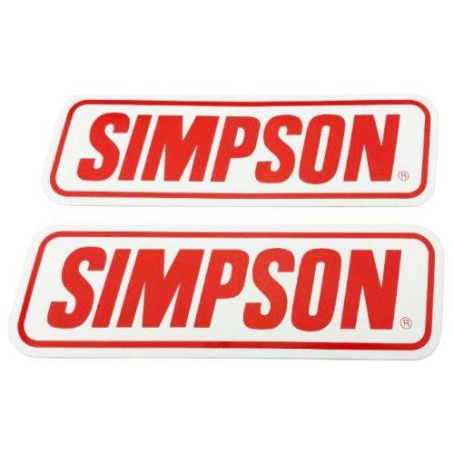 Simpson Genuine Stickers X2 Decal Set 240Mm X 75Mm Bandit Diamondback Speedway