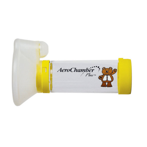 AeroChamber Plus Spacer for Small Child (Yellow) with Mask