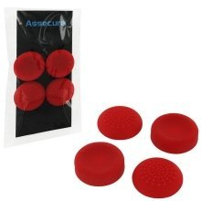 Assecure PS4 Silicone Thumb Grips: Concave and Convex - Red