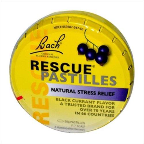 Bach Flower Remedies Rescue Pastilles Black Currant - 50 Pastilles -