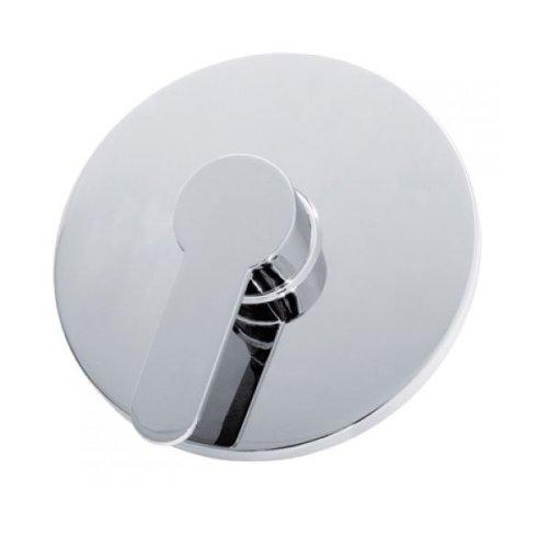 Modern Round 1 Way Concealed Chrome Bar Shower Mixer Valve Tap