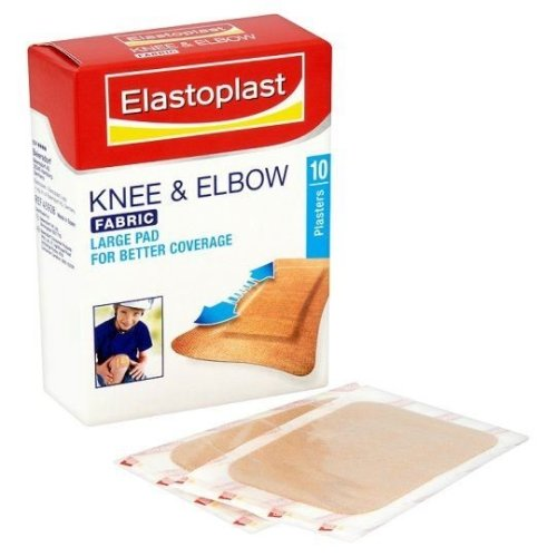 Elastoplast Knee and Elbow Fabric Plaster - Pack of 10 Plasters