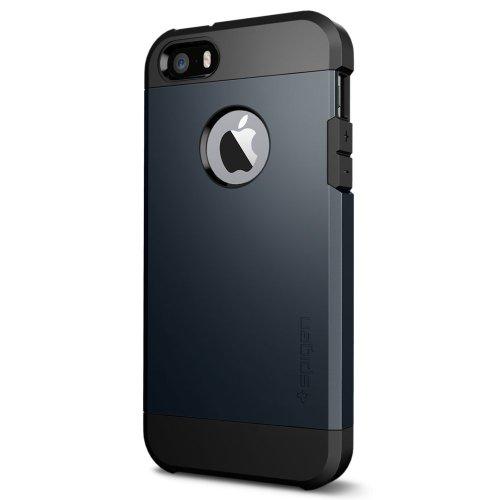 Spigen® [Tough Armor] [Metal Slate] iPhone 5 / 5S / SE Case