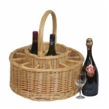 Garden Picnic Basket Complete with 12 Glasses