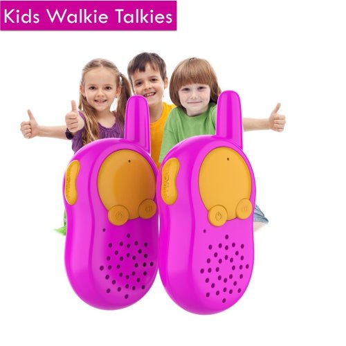Children Walkie Talkie for Girls, Durable Outdoor Gifts for Kids Age 3 4 5 6 7, Christmas Gift for Girls, Long Range Radio Communication Toy,...
