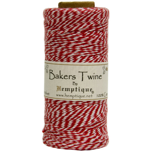 Cotton Baker's Twine Spool 2-Ply 410'-Red
