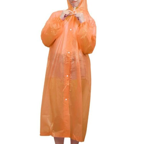 Disposable Plastic Raincoat Travel Rainwear Emergency Waterproof Camping 5 Pcs
