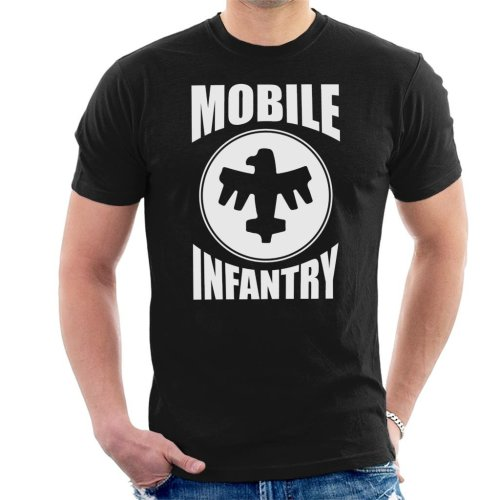 Mobile Infantry White Design Starship Troopers Men's T-Shirt