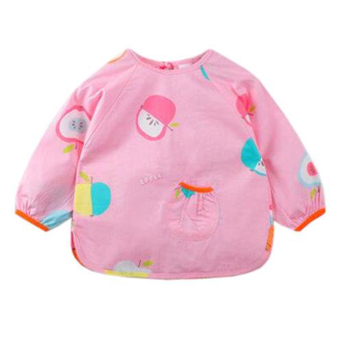 Lovely Baby Bibs Feeding Bib Kid's Apron Overclothes Waterproof Long Sleeves Art Smock NO.20