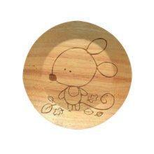 Wooden Dinnerware Fruit/ Meat/ Dessert Plates Round Shape Dishes 15 CM-A1