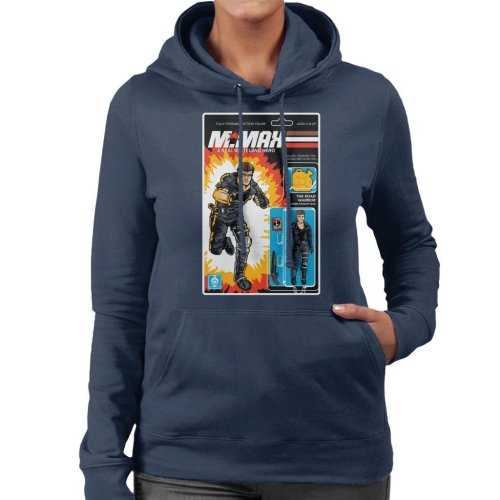 Real Wasteland Hero Action Figure Mad Max Women's Hooded Sweatshirt
