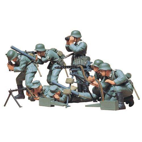 Tamiya 300035038–1: 35WWII Battle Set Figures German MG (7)