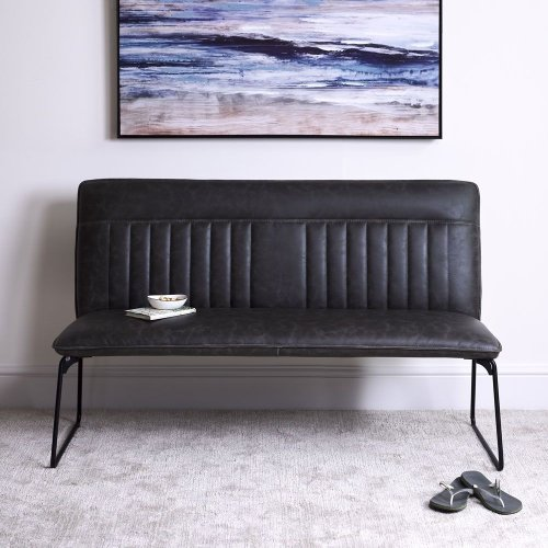 Hardy Grey Upholstered Bench