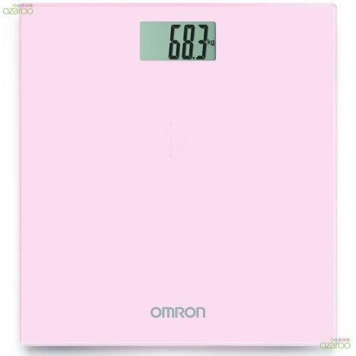 Omron Digital Personal Body Technology Weighing Slim Bathroom Scale, Pink HN289