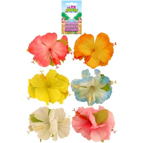 Hawaiian Hibiscus Flower Hair Clip