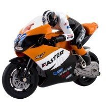 deAO RC Grand Prix Moto GP Racing Bike on Small Scale High Speed and Great Performance Includes Rechargeable Battery and Charger *ORANGE*