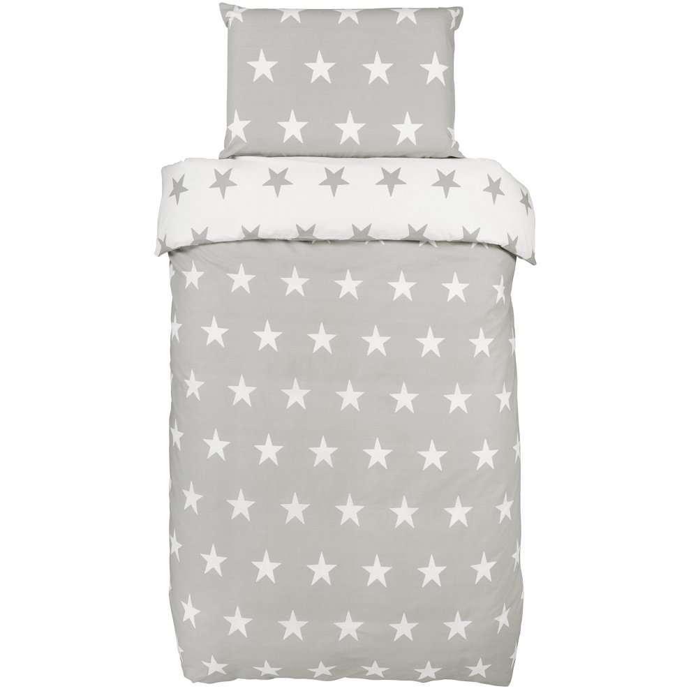 Bloomsbury Mill Grey Amp White Stars Reversible Bedding