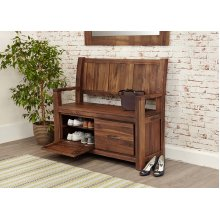 Modern Walnut Monks Bench