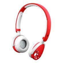 Kurio Kids Safe Headphones with Sound Level Limiter, 3.5mm Jack, Red (CI1125-GIR)